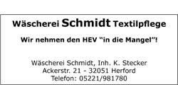 Wäscherei Schmidt